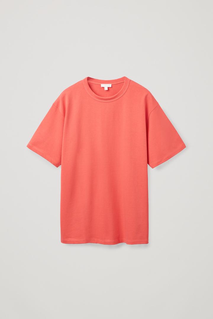 COS hover image 4 of 오렌지 in 릴랙스드 핏 티셔츠