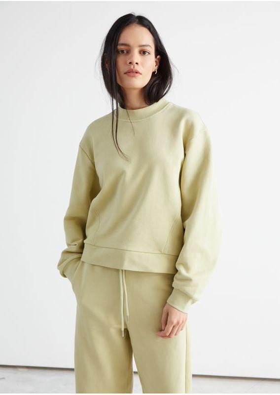 &OS image 1 of 옐로우 in 릴렉스드 바나나 슬리브 스웨터