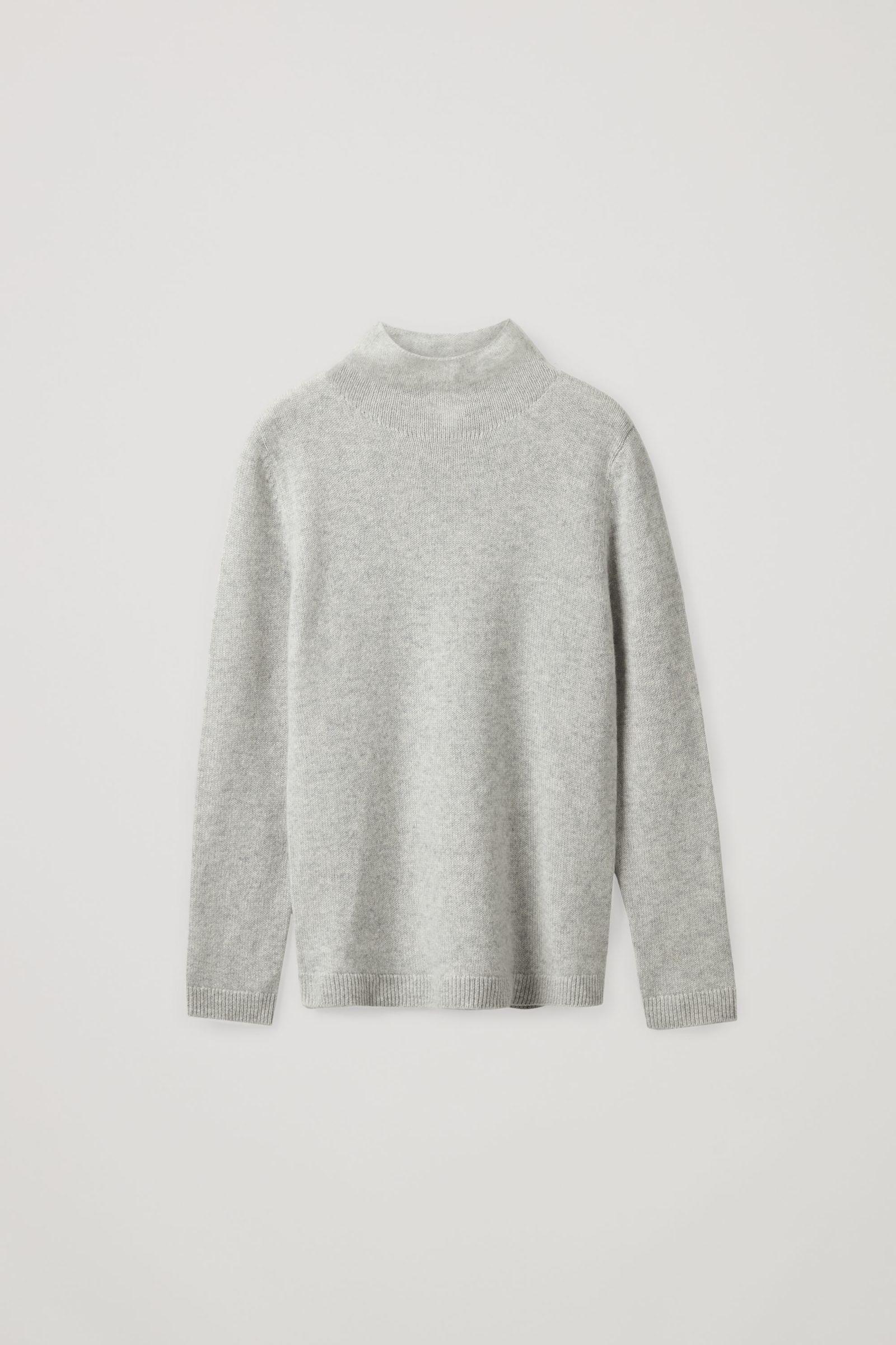 COS 니티드 캐시미어 스웨터의 몰 그레이컬러 Product입니다.