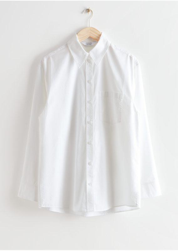 &OS image 28 of 화이트 in 볼류미너스 코튼 셔츠