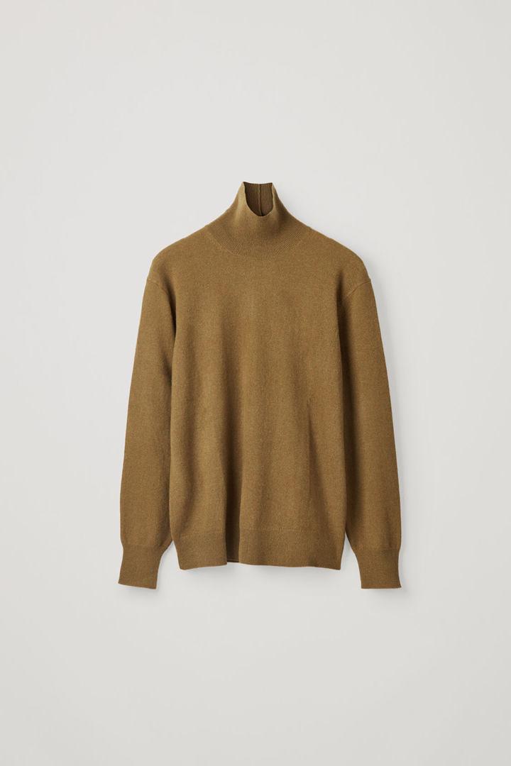 COS default image 8 of 옐로우 in 캐시미어 롤넥 스웨터