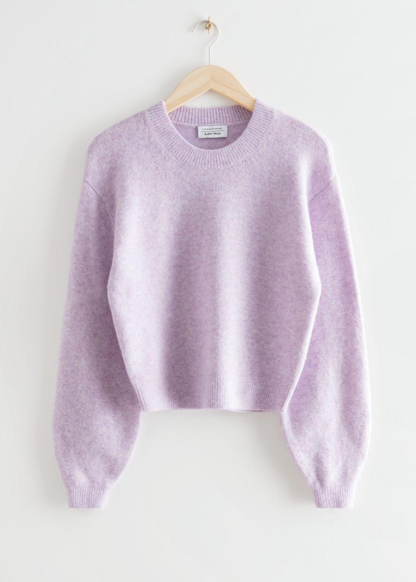 앤아더스토리즈 릴렉스드 스웨터의 라일락컬러 Product입니다.