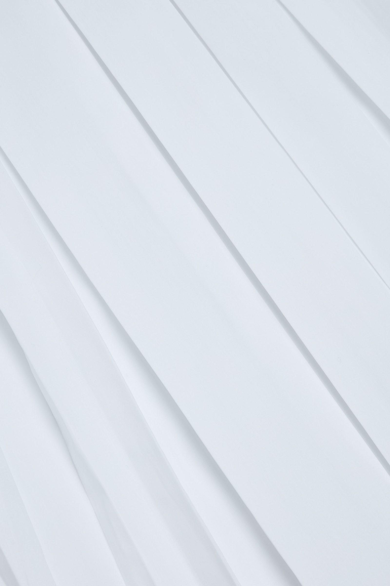 COS 오가닉 코튼 플리티드 튜닉 셔츠의 화이트컬러 Detail입니다.