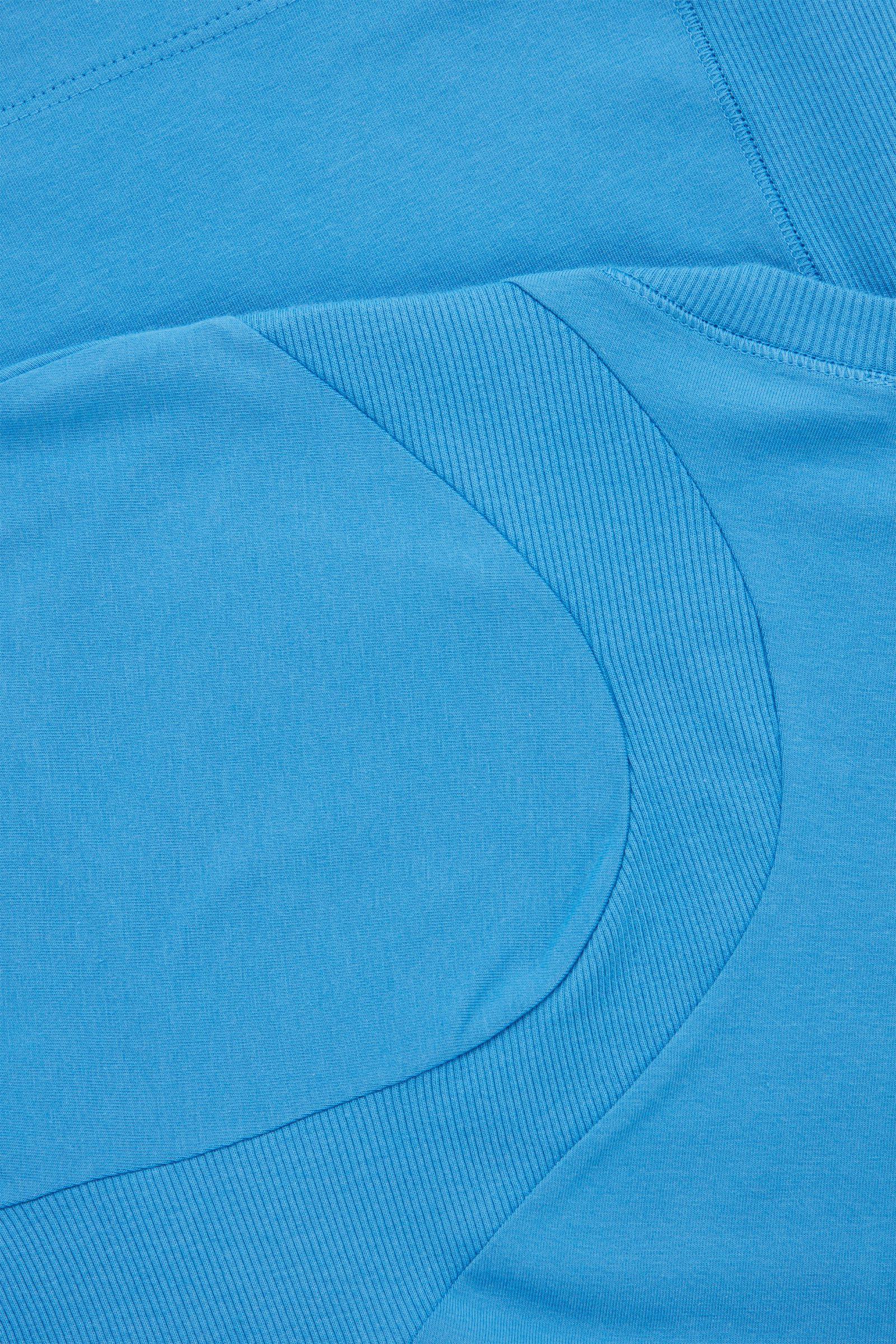 COS 슬림핏 오가닉 코튼 컨투어드 탑의 블루컬러 Detail입니다.