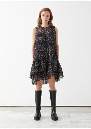 &OS image PRA default 5 of  in 볼류미너스 에이시메트리컬 러플 미니 드레스