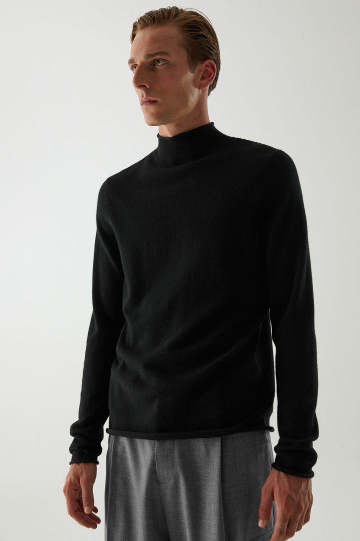 COS hover image 12 of 블랙 in 캐시미어 모크넥 스웨터