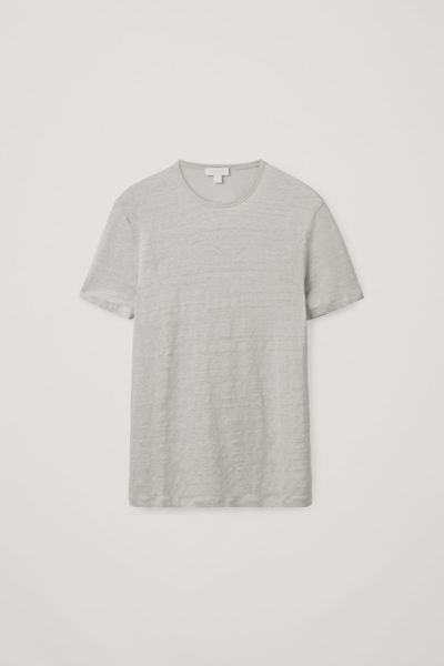 COS default image 11 of 그레이 in 쇼트 슬리브 리넨 티셔츠