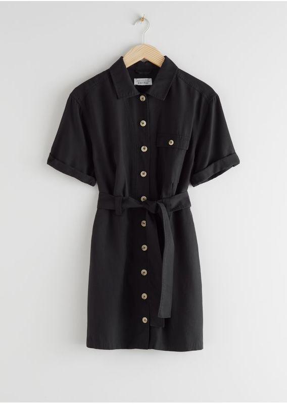 &OS image 27 of  in 모크 넥 플로럴 프린트 미니 드레스