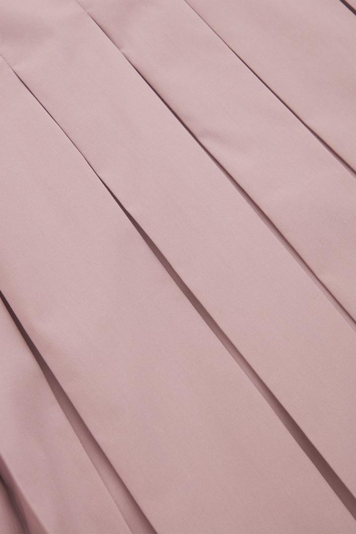 COS 오가닉 코튼 플리티드 튜닉 셔츠의 퍼플컬러 Detail입니다.