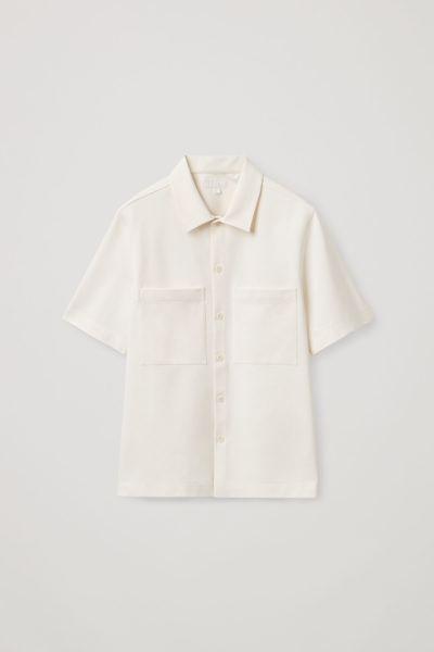 COS default image 2 of 화이트 in 릴랙스드 셔츠