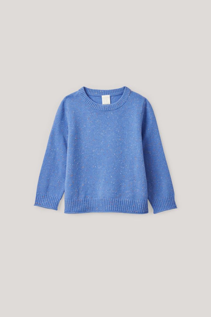 COS default image 6 of 블루 in 스페클드 메리노 스웨터