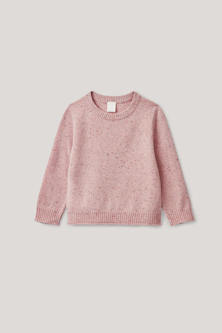 COS 스페클드 메리노 스웨터의 핑크컬러 Product입니다.