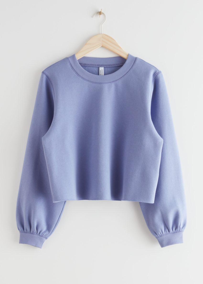 앤아더스토리즈 박시 저지 스웨터의 퍼플컬러 Product입니다.