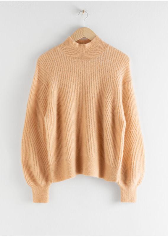 &OS image 9 of  in 울 블렌드 케이블 니트 스웨터