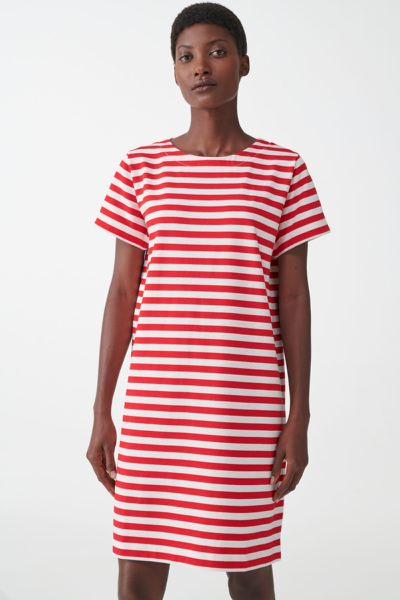 COS hover image 3 of  in 스트라이프 코튼 티셔츠 드레스