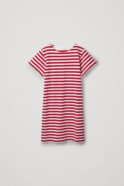 COS default image 3 of  in 스트라이프 코튼 티셔츠 드레스