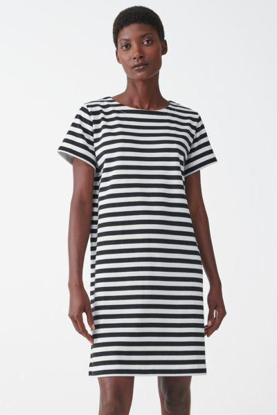COS hover image 4 of  in 스트라이프 코튼 티셔츠 드레스