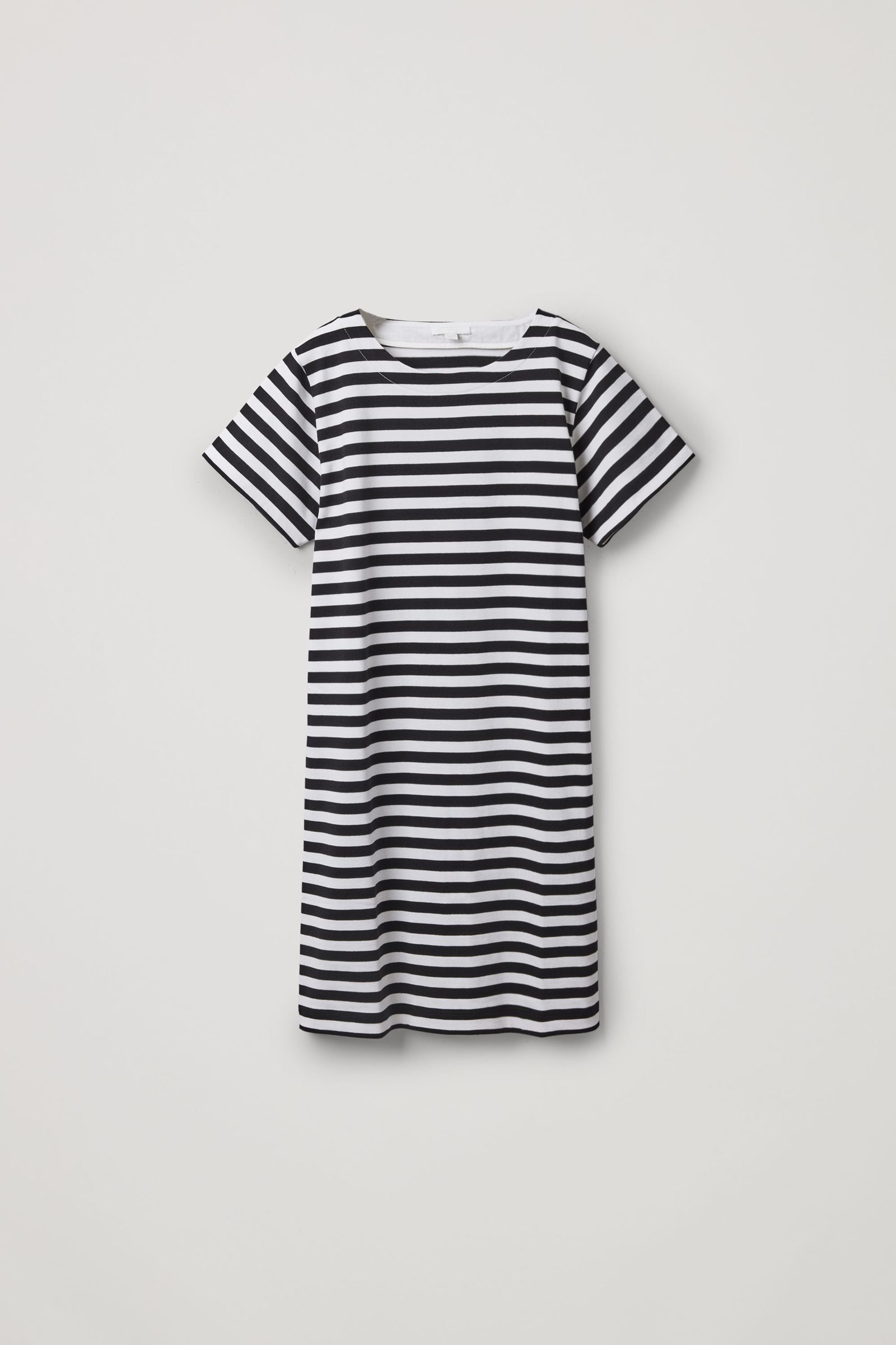 COS 스트라이프 코튼 티셔츠 드레스의 네이비 / 화이트컬러 Product입니다.