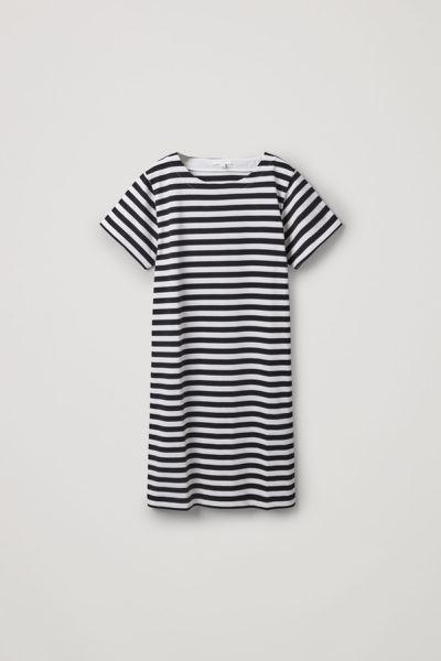 COS default image 4 of  in 스트라이프 코튼 티셔츠 드레스