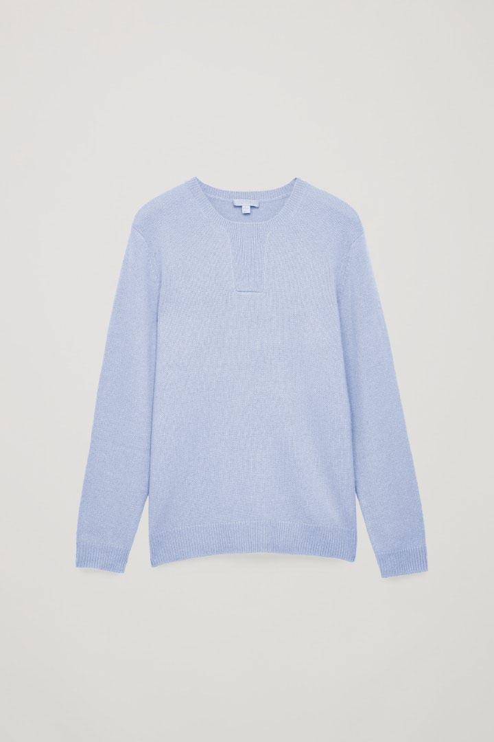COS default image 10 of 블루 in 스티치 디테일 캐시미어 스웨터