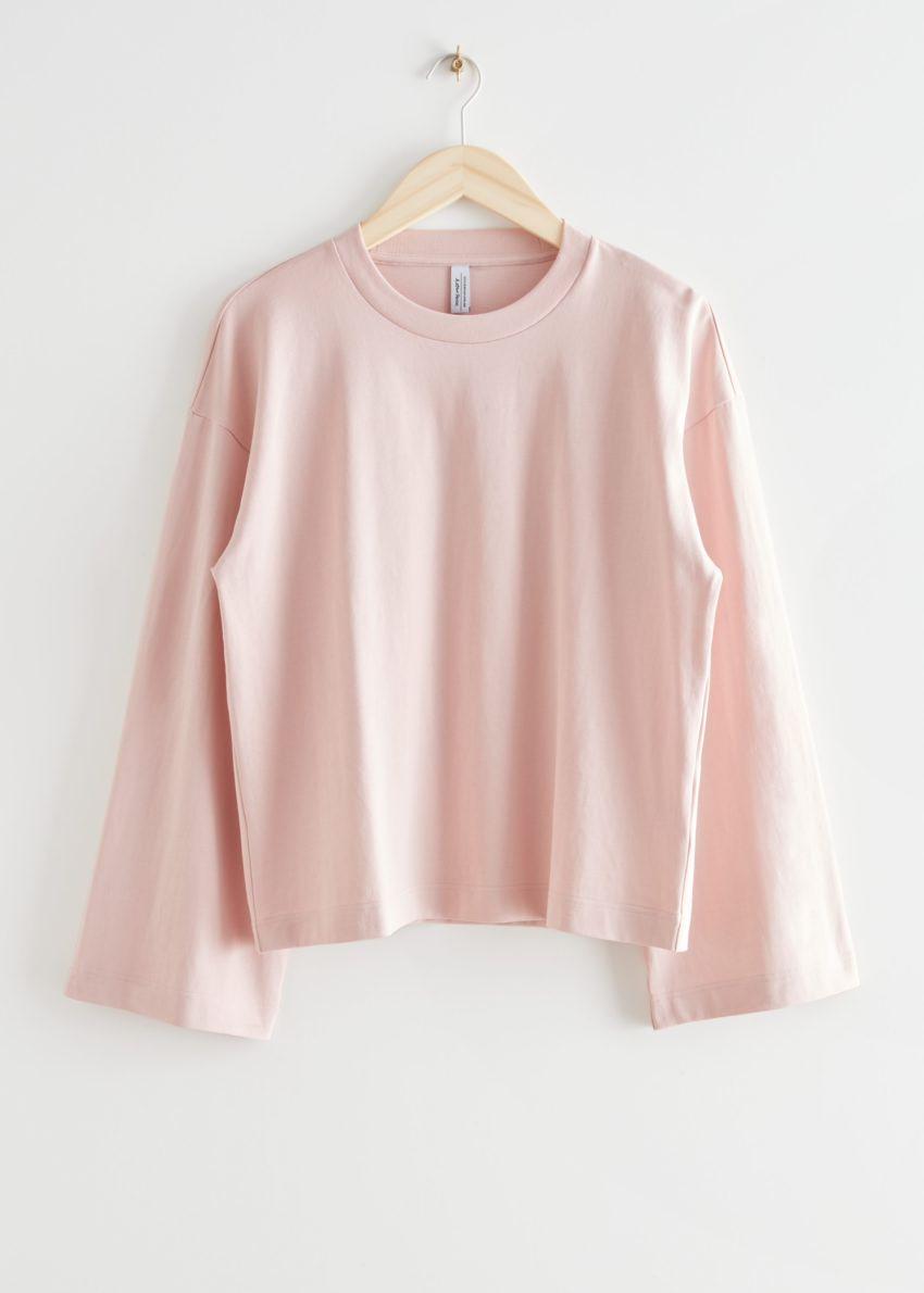 앤아더스토리즈 릴렉스드 코튼 스웨터의 라이트 핑크컬러 Product입니다.