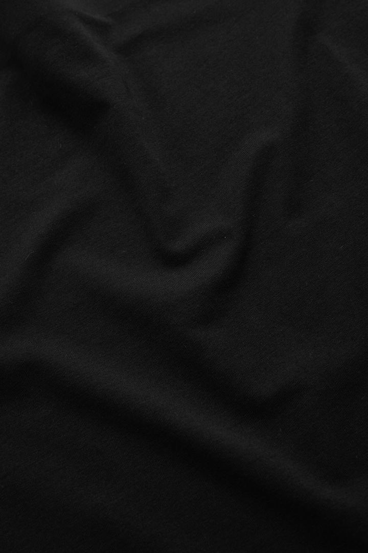 COS 스트랩리스 코튼 믹스 탑의 블랙컬러 Detail입니다.
