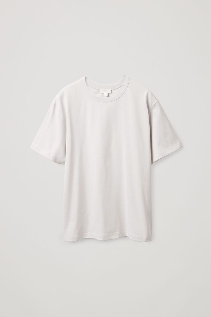 COS hover image 1 of 브라운 in 박시 티셔츠