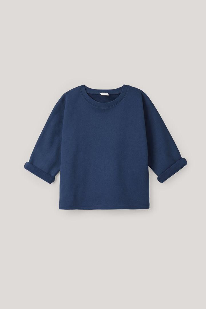 COS default image 8 of 블루 in 릴랙스드 저지 스웨터