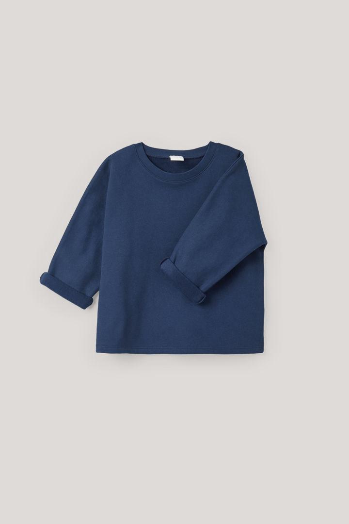 COS hover image 8 of 블루 in 릴랙스드 저지 스웨터