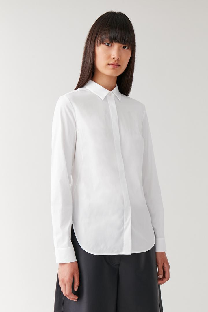 COS default image 10 of 화이트 in 슬림핏 셔츠