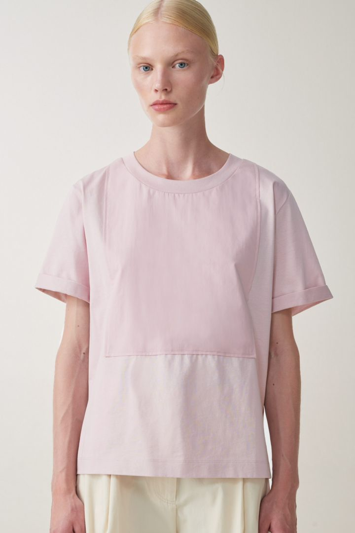 COS default image 6 of 핑크 in 코튼 저지 티셔츠