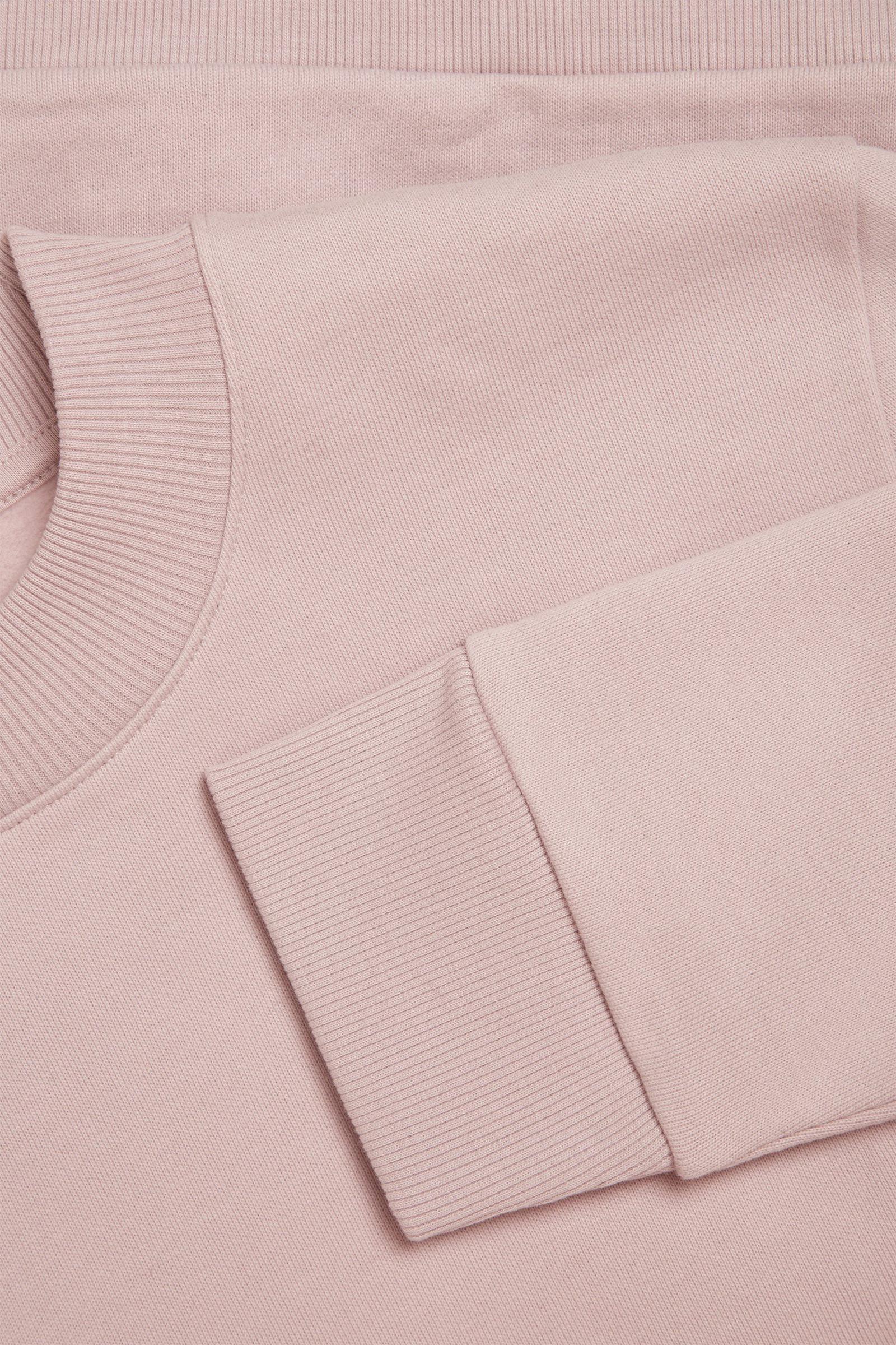 COS 코튼 스웻셔츠의 핑크컬러 Detail입니다.