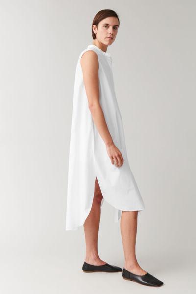 COS hover image 2 of 화이트 in 코튼 셔츠 드레스