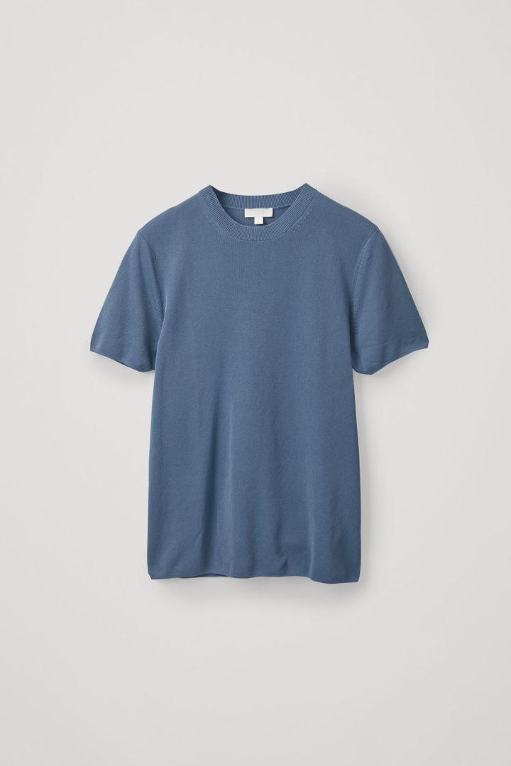 COS hover image 10 of 블루 in 페이퍼 얀 니티드 티셔츠