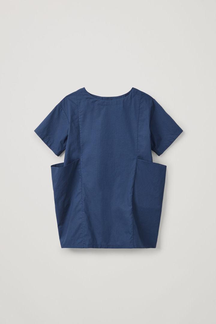 COS default image 11 of 블루 in 라지 포켓 코튼 드레스