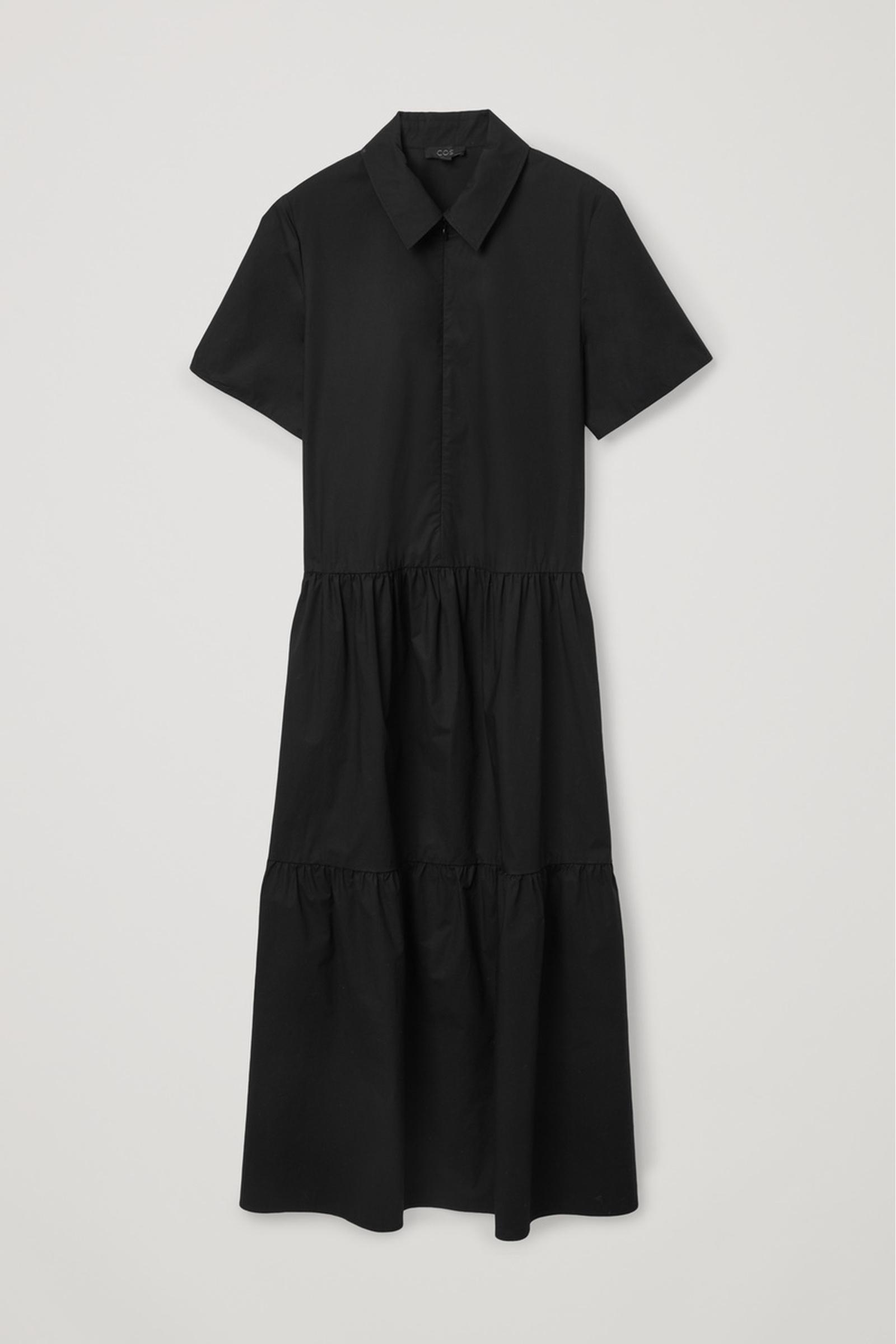 COS 개더 패널 드레스의 블랙컬러 Product입니다.