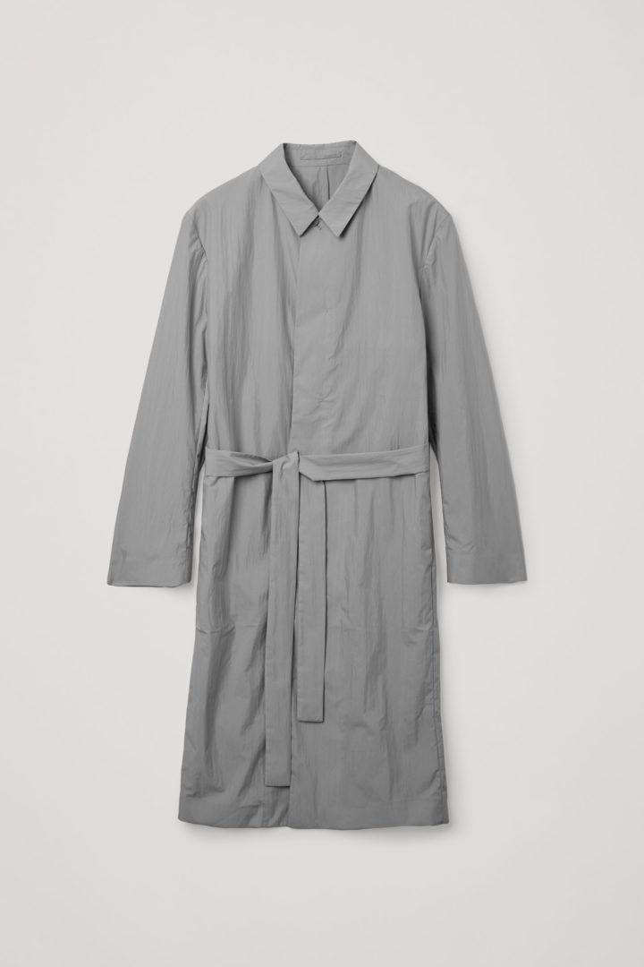COS 코튼 트렌치 코트의 그레이컬러 Product입니다.