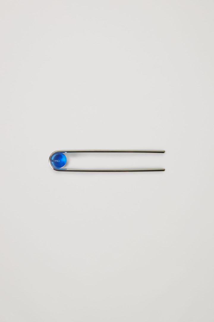 COS default image 5 of 블루 in 글래스 비드 헤어 핀