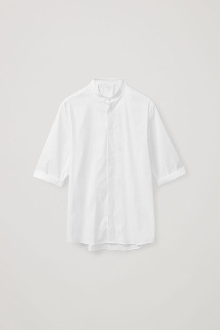 COS hover image 4 of 화이트 in 슬림 칼라리스 셔츠