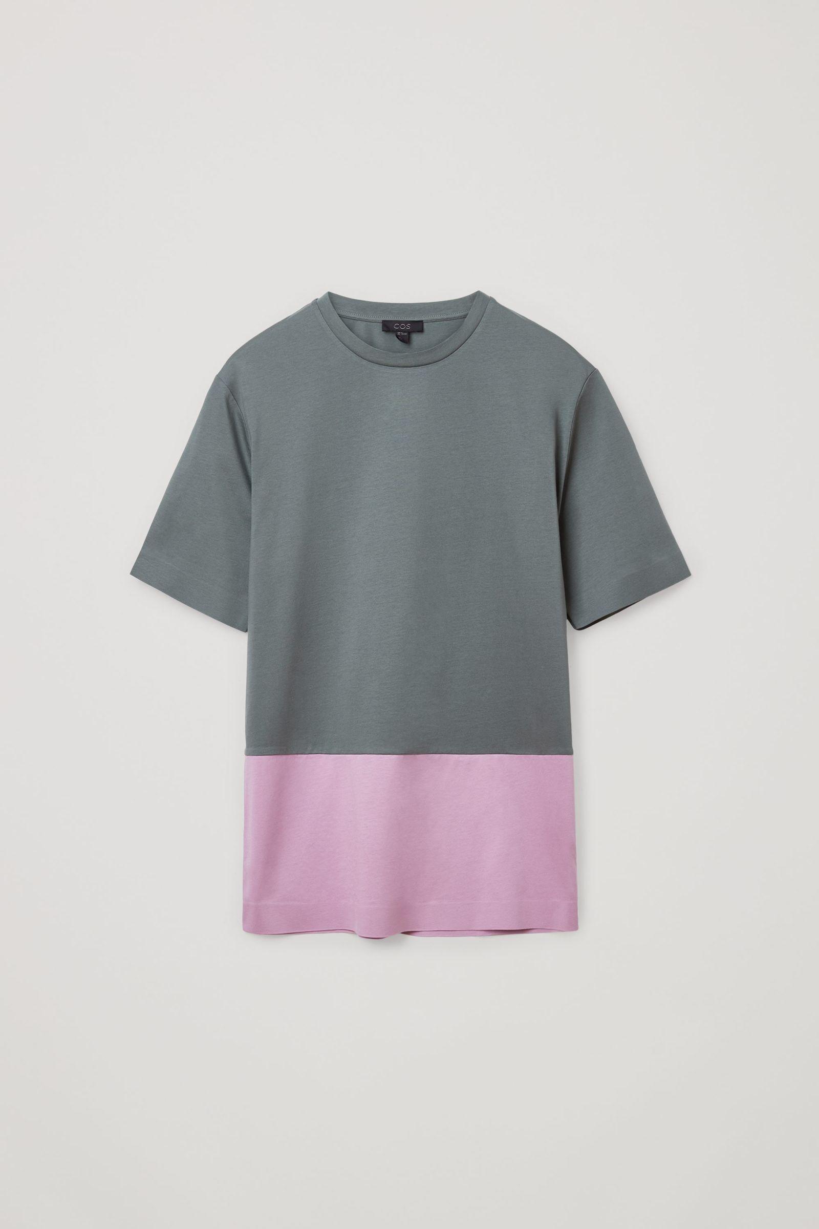 COS 본디드 코튼 티셔츠의 그레이 / 핑크컬러 Product입니다.