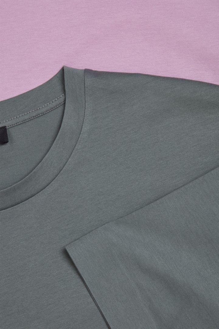 COS 본디드 코튼 티셔츠의 그레이 / 핑크컬러 Detail입니다.