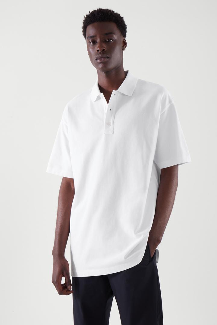 COS default image 4 of 화이트 in 폴로 셔츠