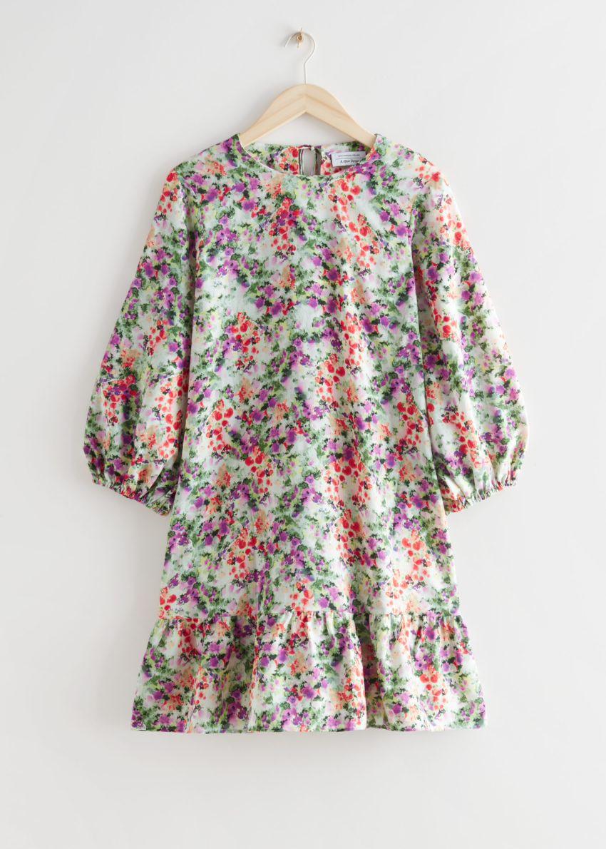앤아더스토리즈 릴렉스드 A 라인 미니 드레스의 플로럴 프린트컬러 Product입니다.