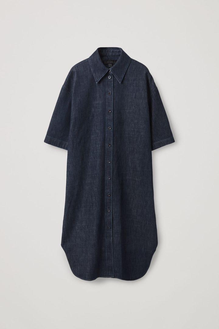 COS hover image 12 of 블루 in 데님 셔츠 드레스