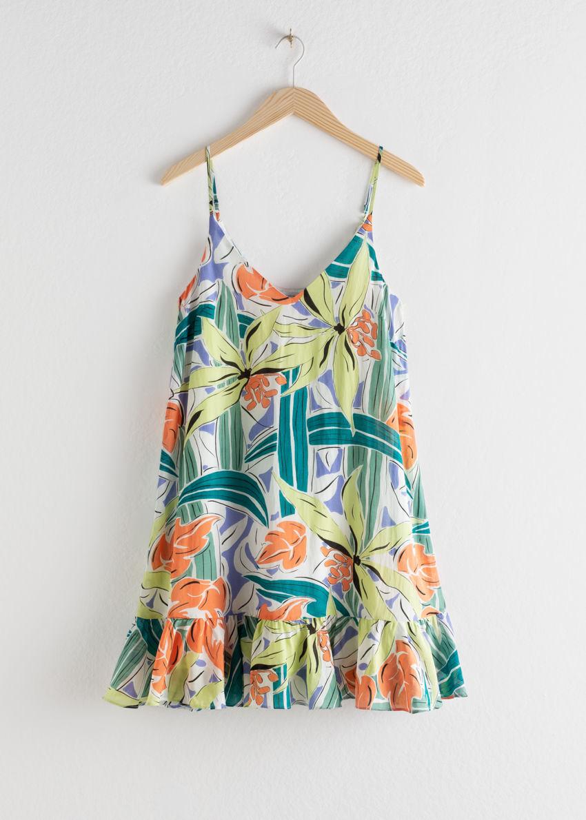 앤아더스토리즈 드롭 웨이스트 드레스의 트로피컬컬러 Product입니다.