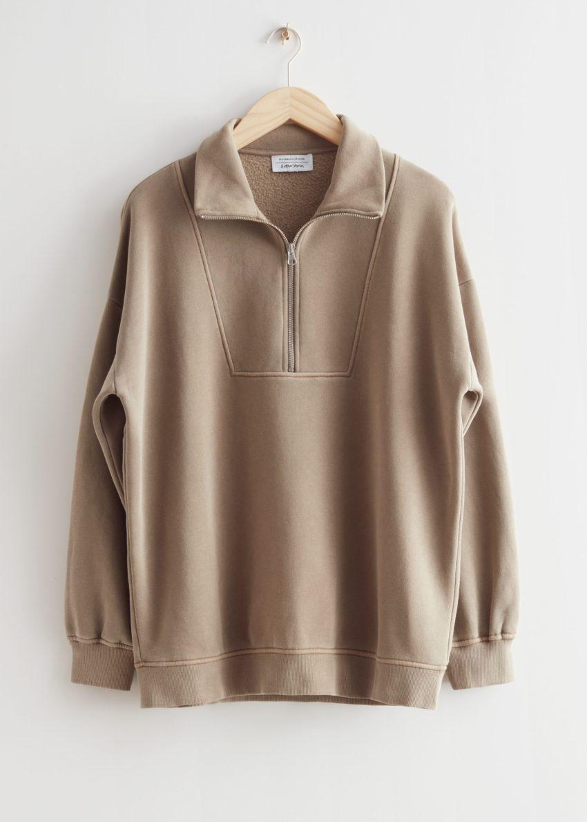 앤아더스토리즈 소프트 하프-집 스웨터의 몰컬러 Product입니다.