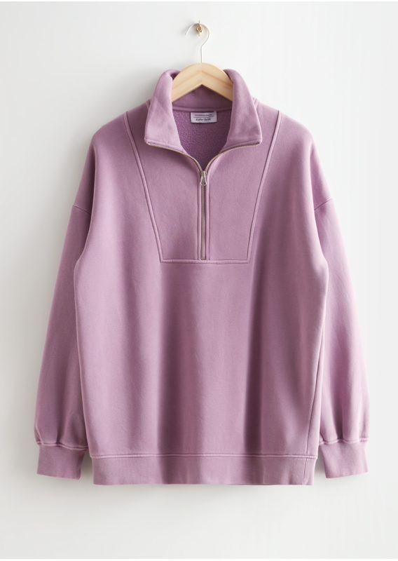 &OS image 15 of 라일락 in 소프트 하프-집 스웨터