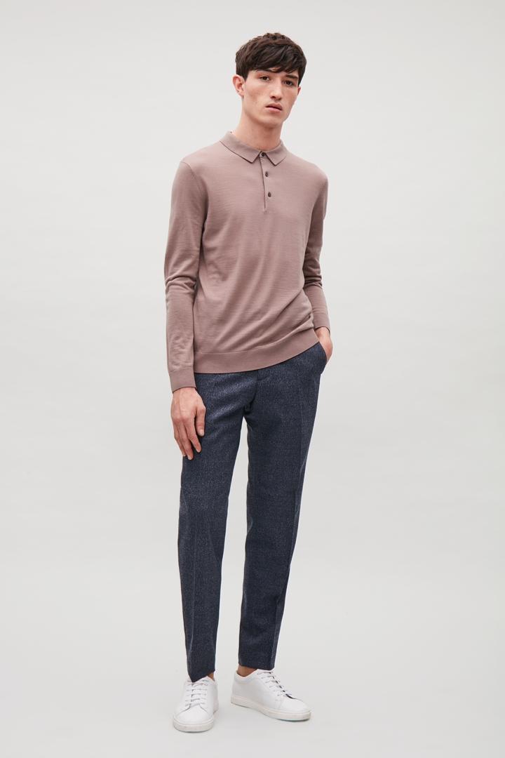 COS hover image 3 of 핑크 in 메리노 폴로 넥 스웨터