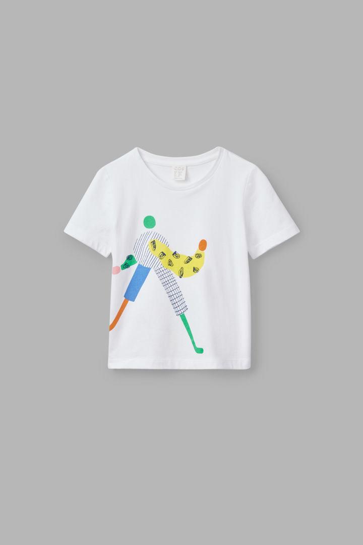 COS default image 11 of 화이트 in 일러스트레이티드 티셔츠