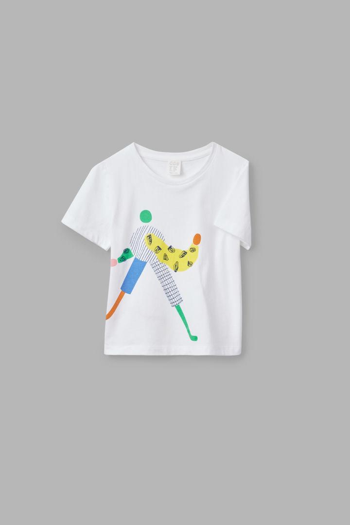 COS hover image 11 of 화이트 in 일러스트레이티드 티셔츠